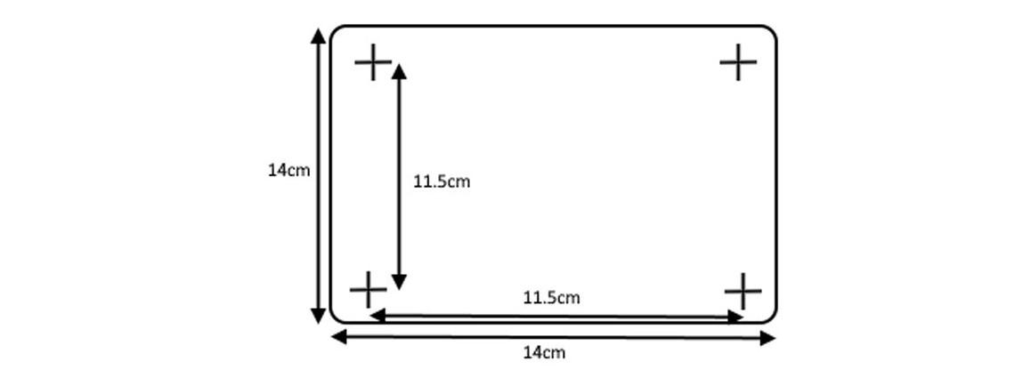 schéma du socle de la douche solaire droite pvc 20l