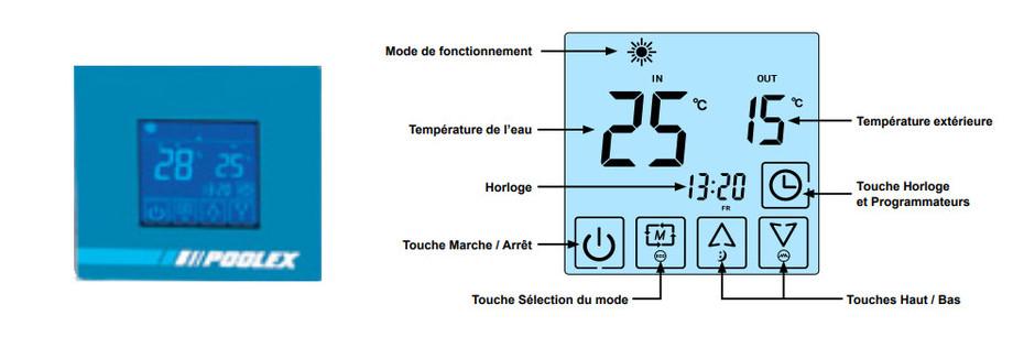 télécommande de la pompe à chaleur triline selection
