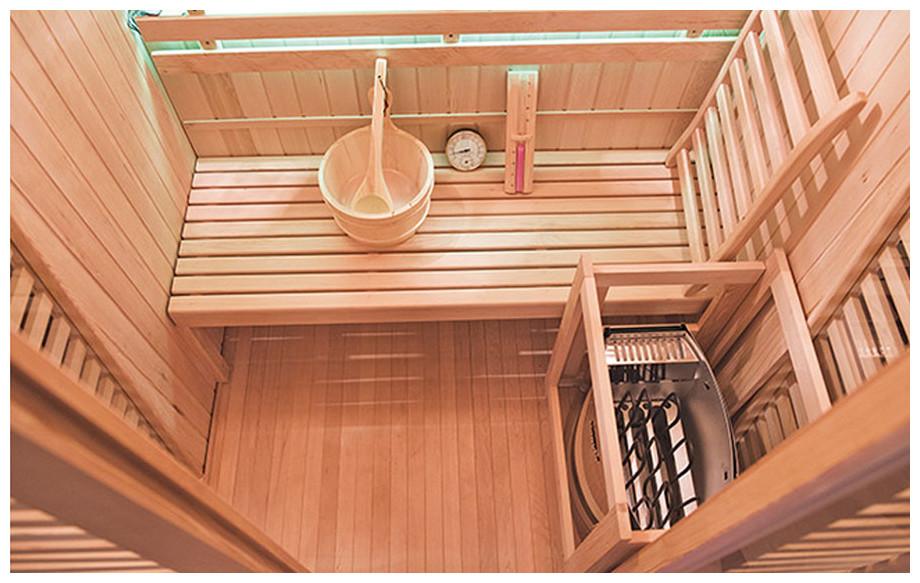 équipement complet du sauna vapeur venetian holl's en situation