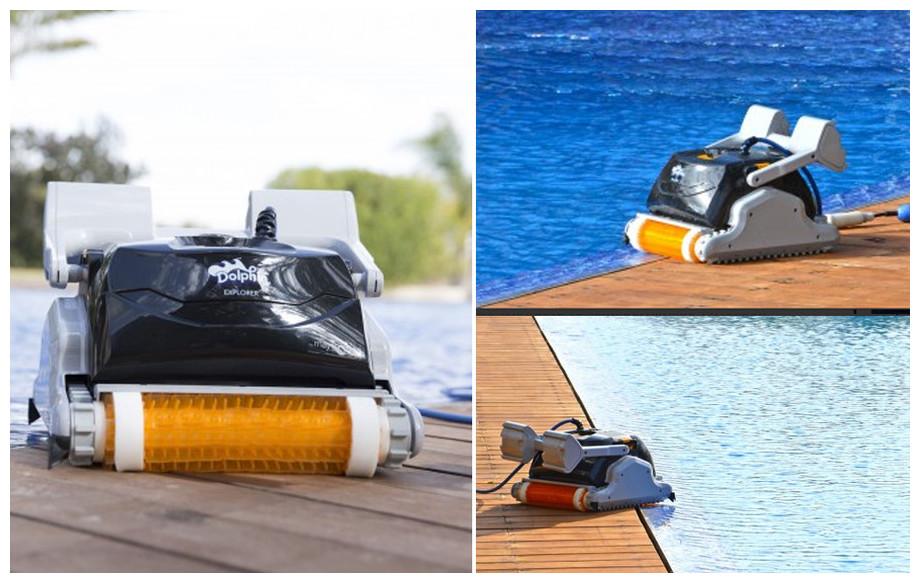 robot pour piscine dolphin ex40 en situation