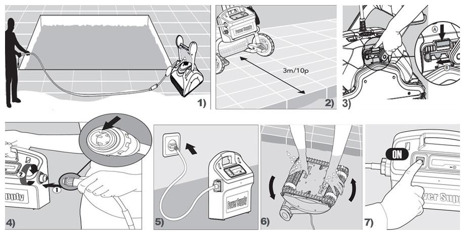 installation du robot de nettoyage de piscine Dolphin ex40