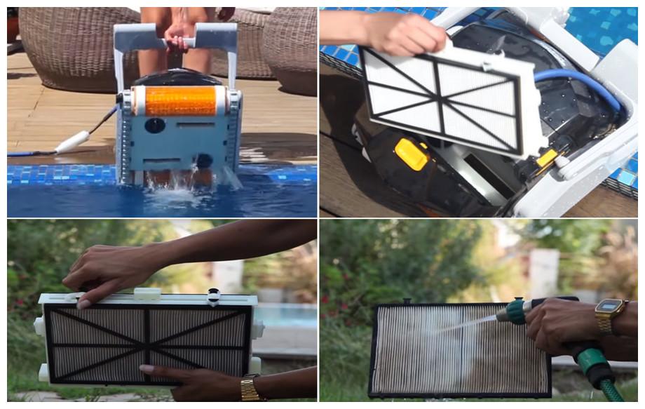 nettoyage du filtre du robot électrique dolphin ex40
