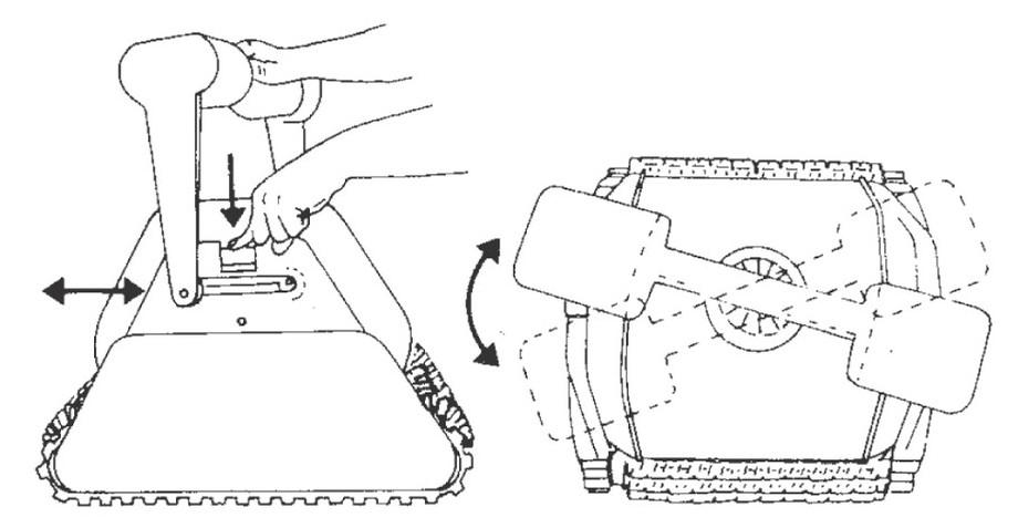 robot aquavac qc 300 hayward réglage des poignées