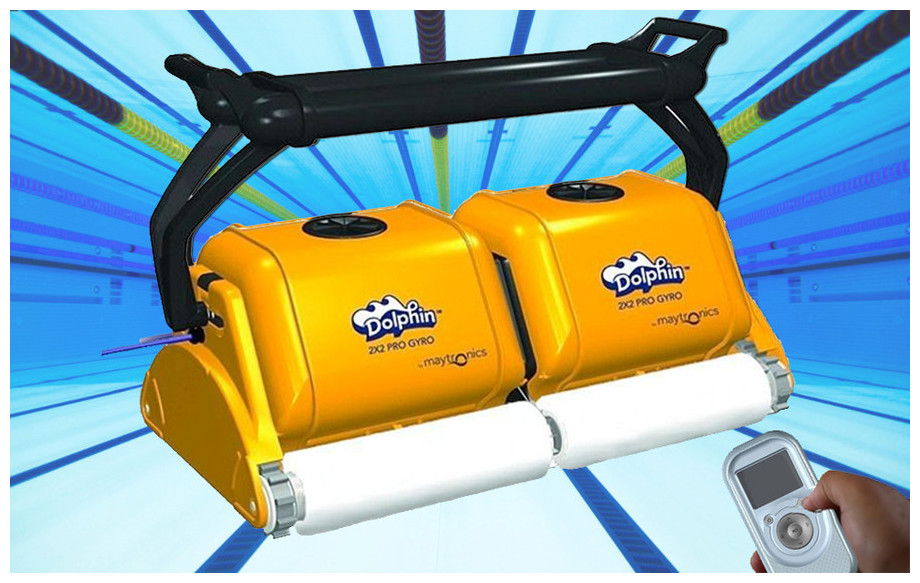 robot piscine dolphin 2x2 pro gyro brosse mousse