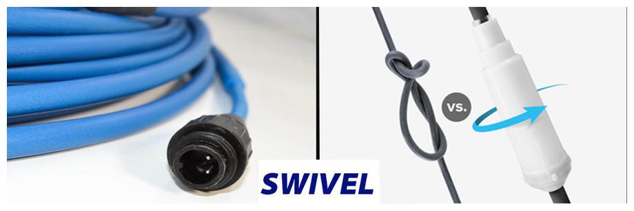 câble swivel pour robot piscine Dolphin 2x2 pro gyroavec brosse en mousse
