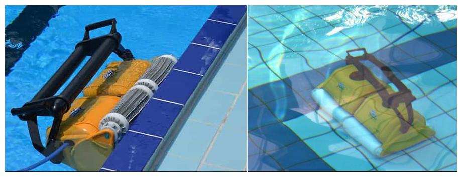 robot piscine 2x2 dolphin pro gyro en situation
