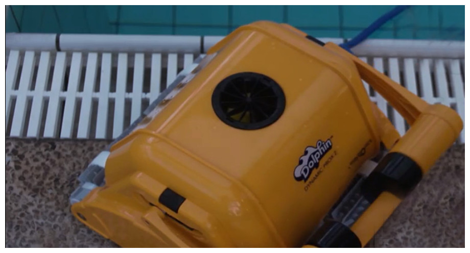 robot piscine dolphin prox 2 en situation