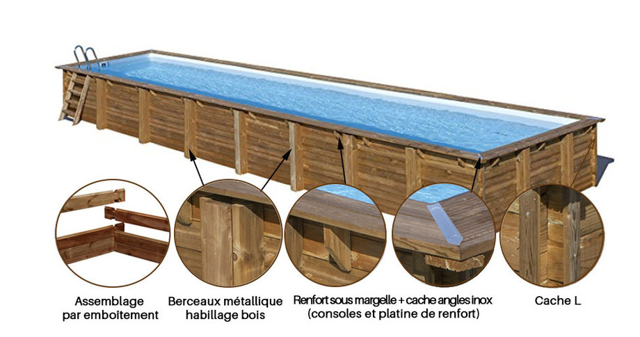 structure piscine bois cardamon sunbay