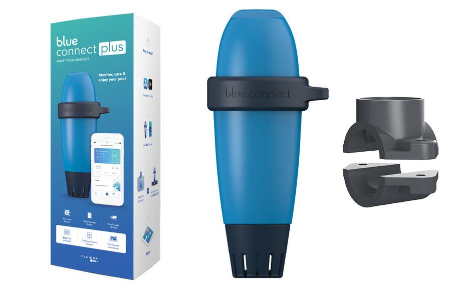 contenu du blue connect plus analyseur connecté pour piscine