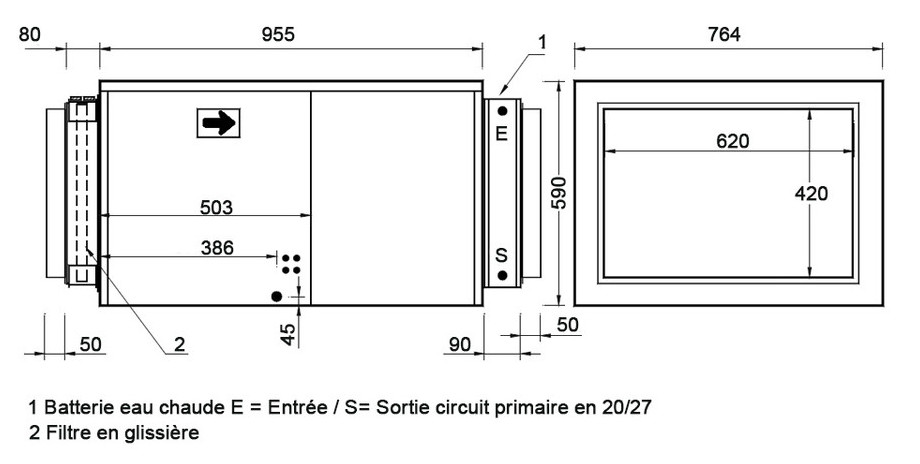 installation du déshumidificateur mono df308
