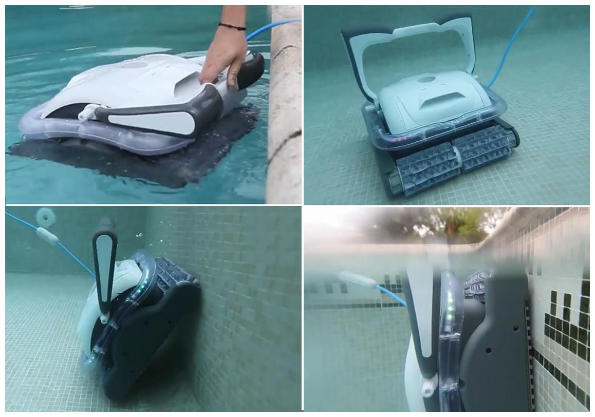 détails du robot piscine raptor bestway