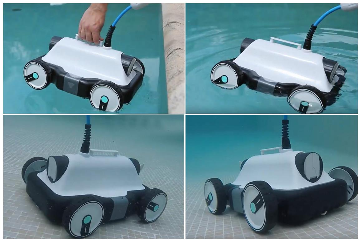 utilisation du robot piscine à fond plat falcon bestway