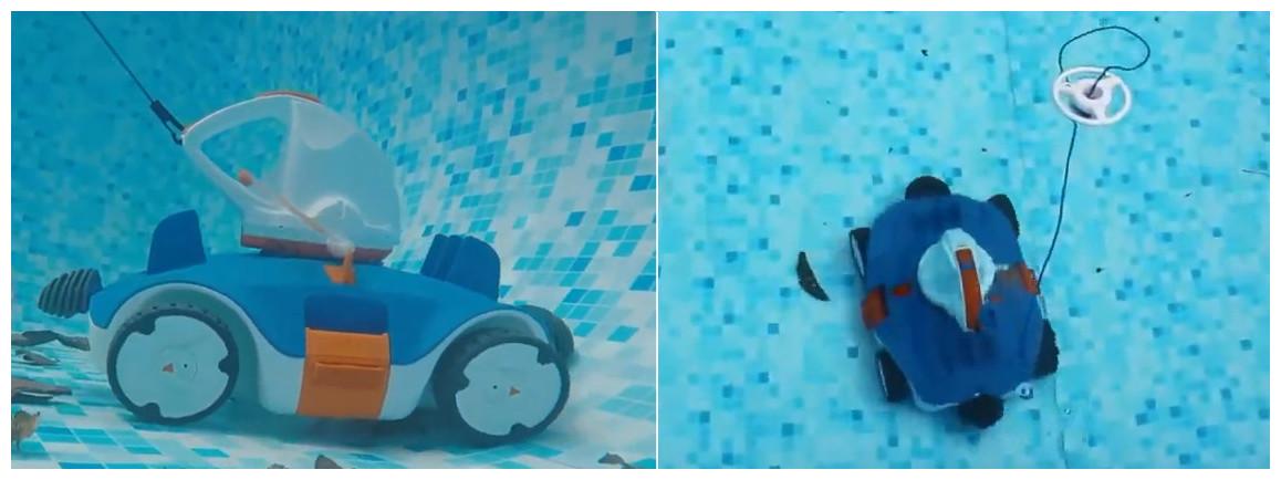 robot piscine sans fil aquatronix bestway en situation