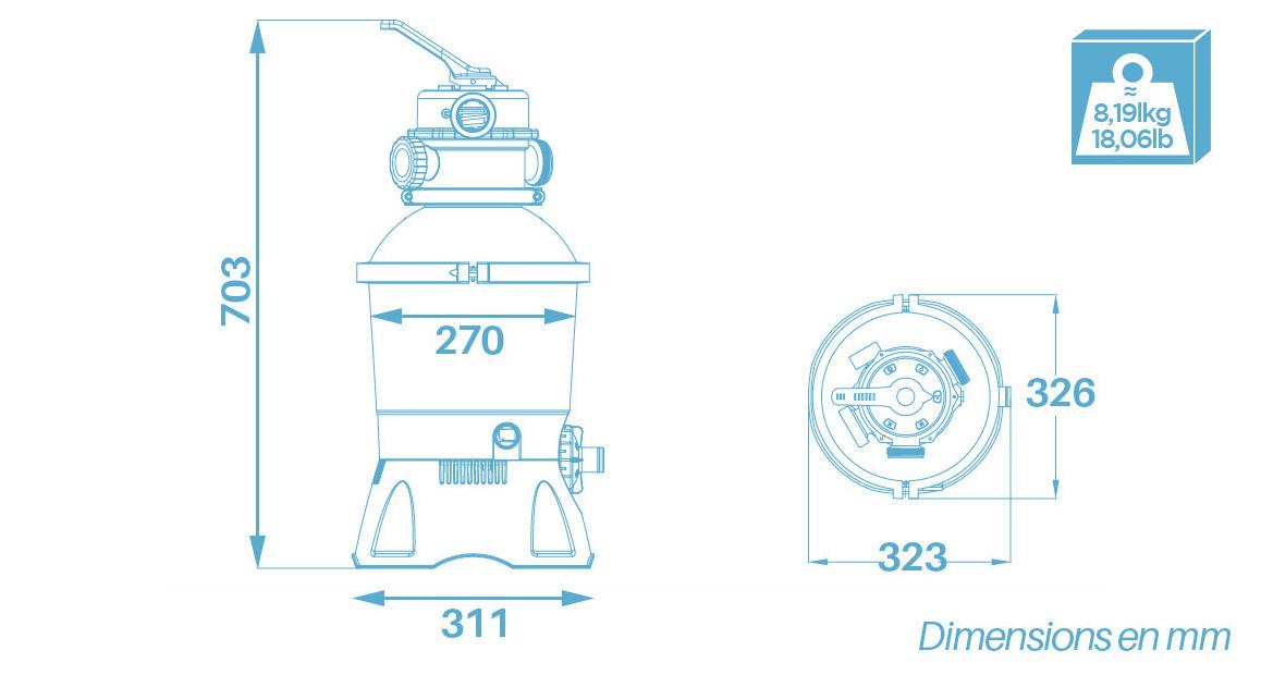 filtre à sable Flowclear 2 m³ pour piscine hors sol bestway