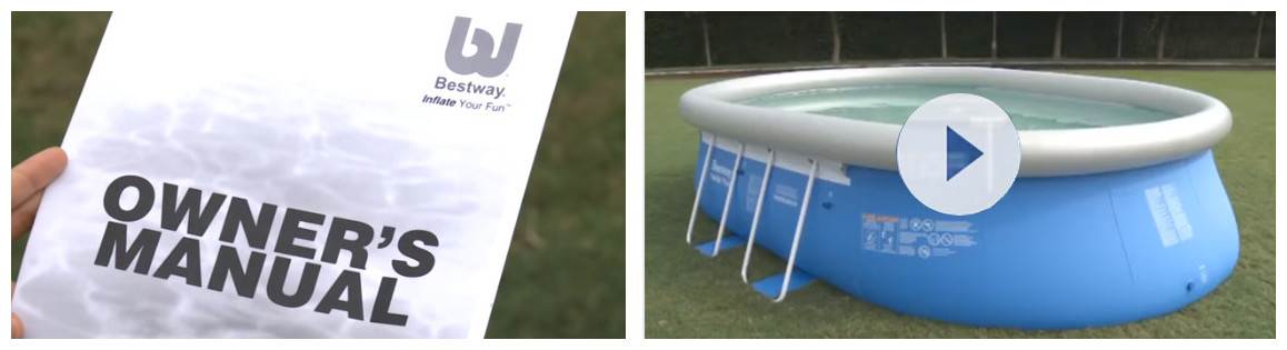 installation de la piscine hors sol bestway fast set pool