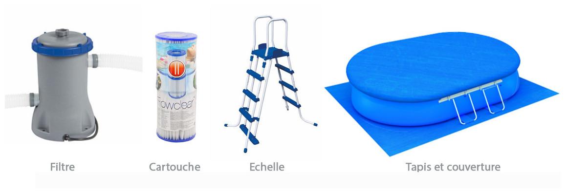 équipements de la piscine hors sol bestway fast set ovale