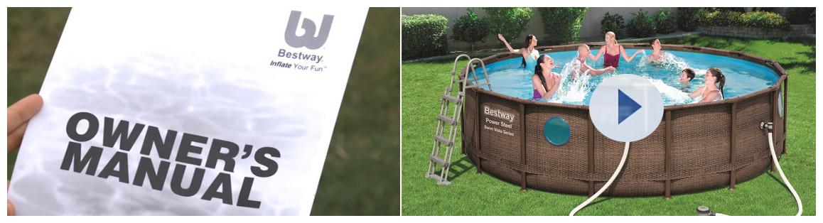 installation de la piscine hors sol bestway swim vista