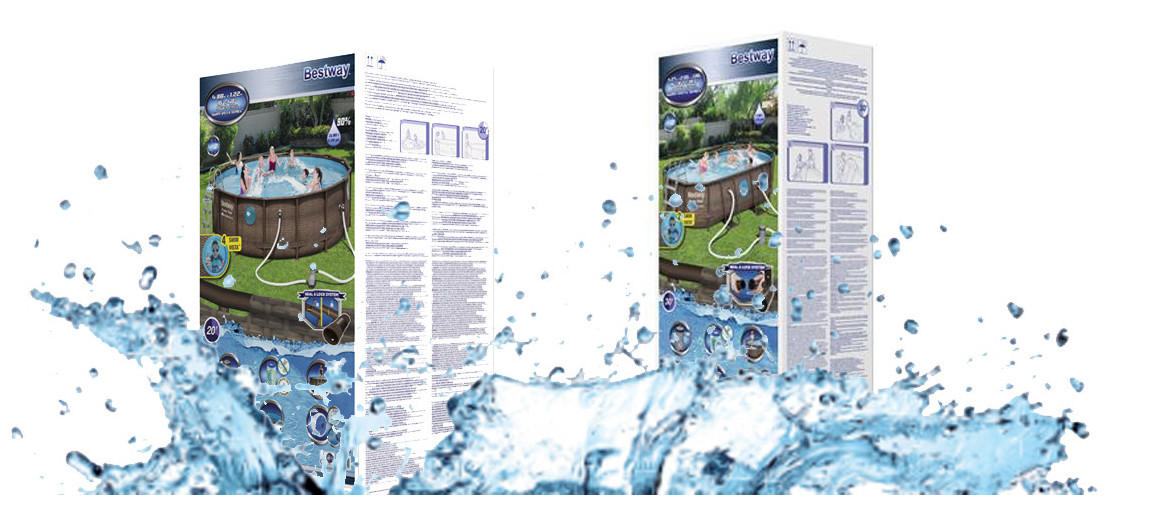 contenu de la piscine hors sol tubulaire power steel swim vista series