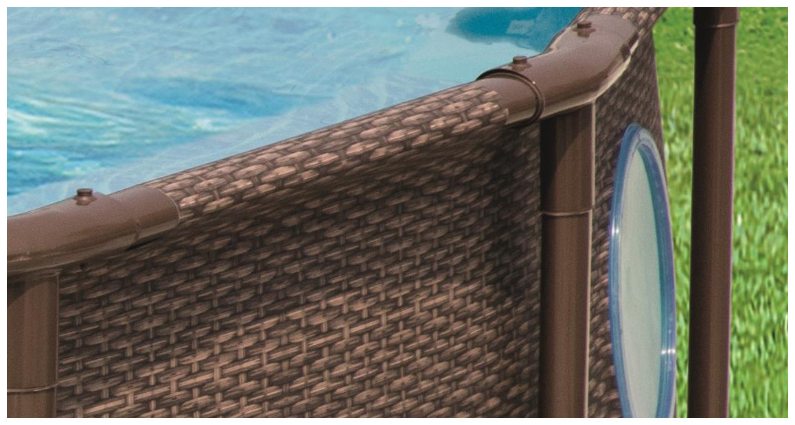 détail de la structure de la piscine bestway steel swim vista series