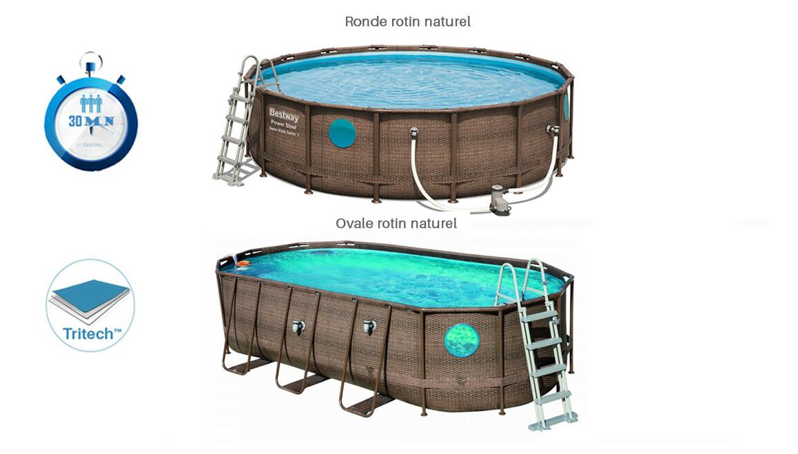 descriptif de la piscine tubulaire swim vista bestway