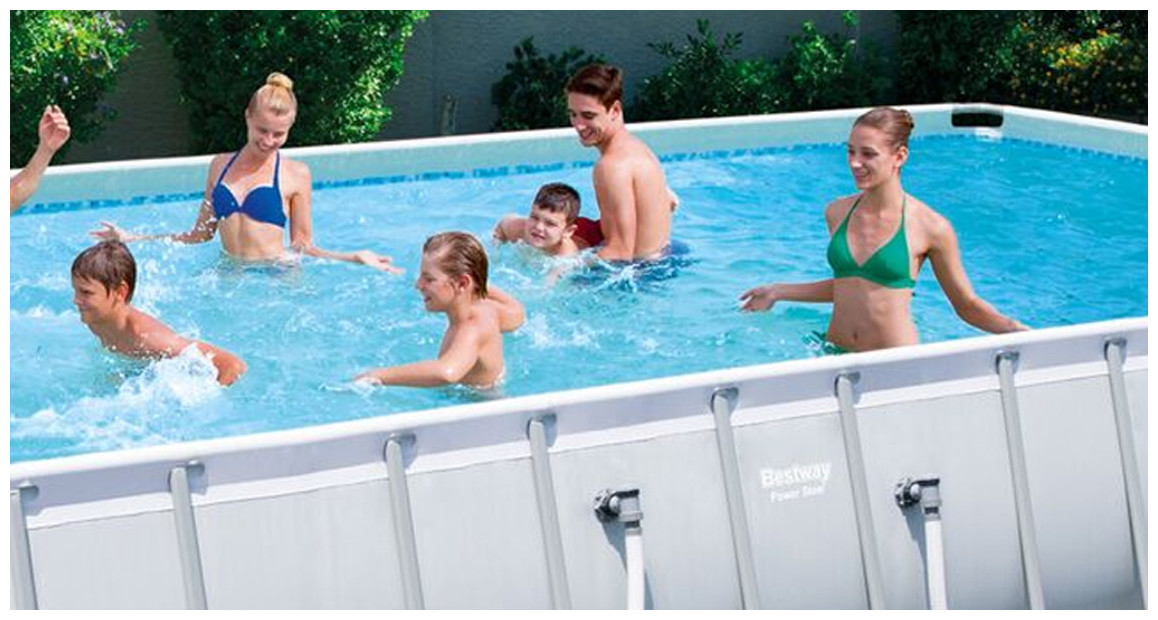 piscine hors sol tubulaire power steel frame en situation