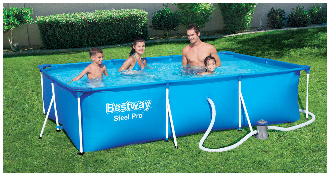 piscine rectangle steel pro bestway en situation