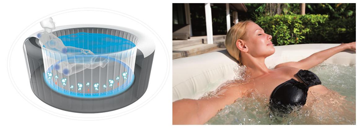 caractéristiques du spa lay z bestway airjet