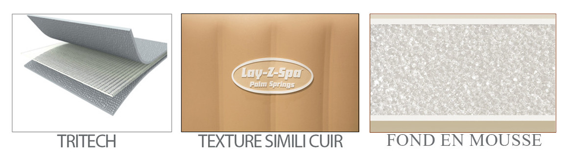 matériaux du spa piscine lay z bestway