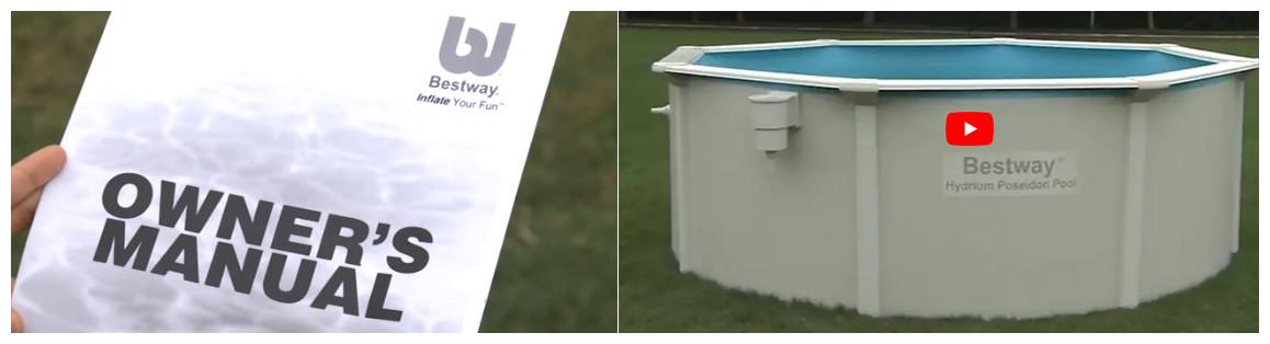 installation de la piscine hors sol hydrium bestway