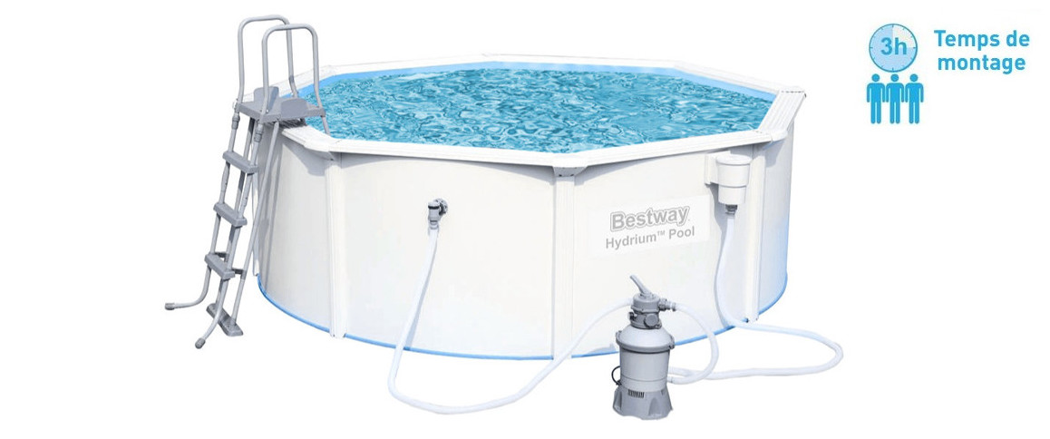 caractéristiques de la piscine hors sol bestway hydrium ronde