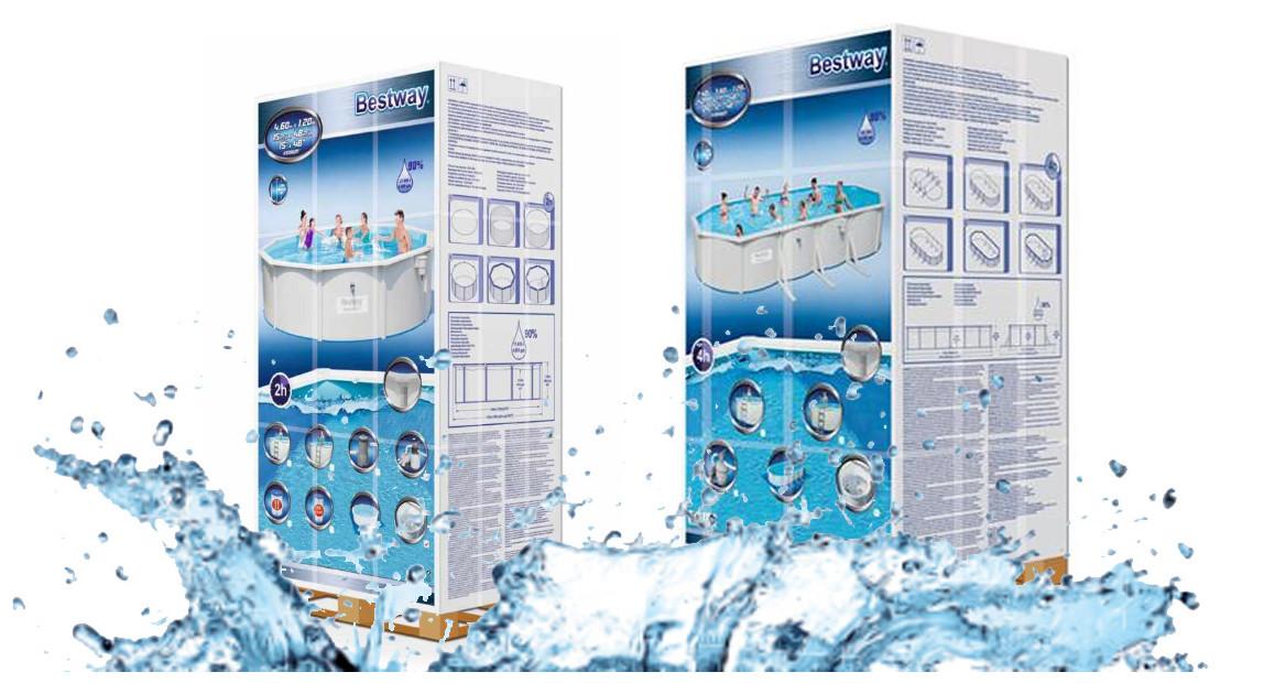 package de la piscine hors sol tubulaire bestway hydrium