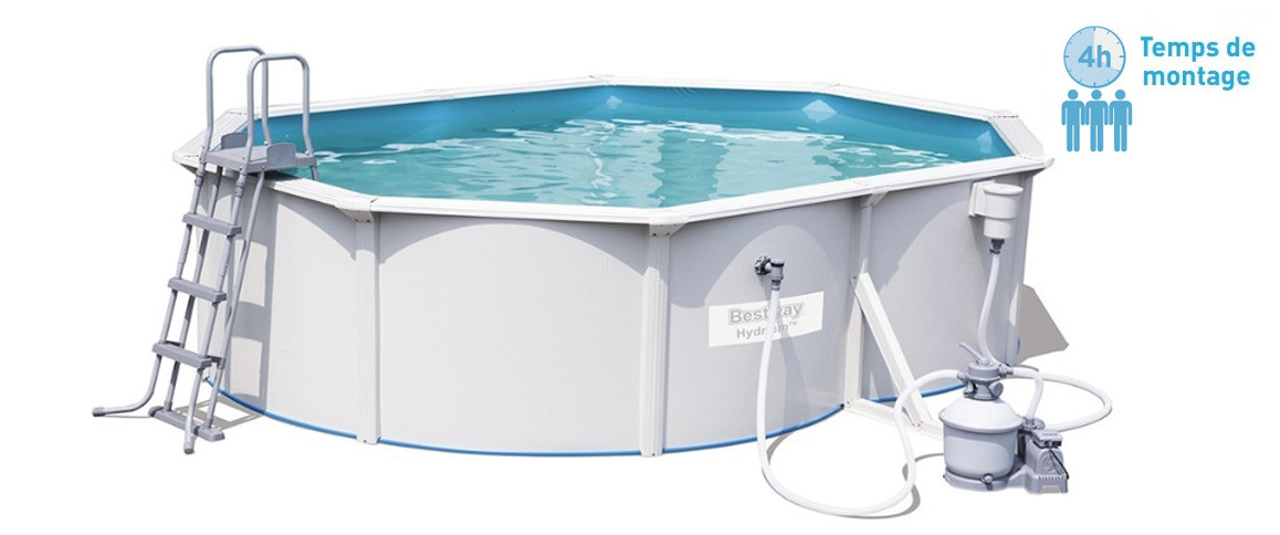 caractéristiques de la piscine hors sol bestway hydrium ovale