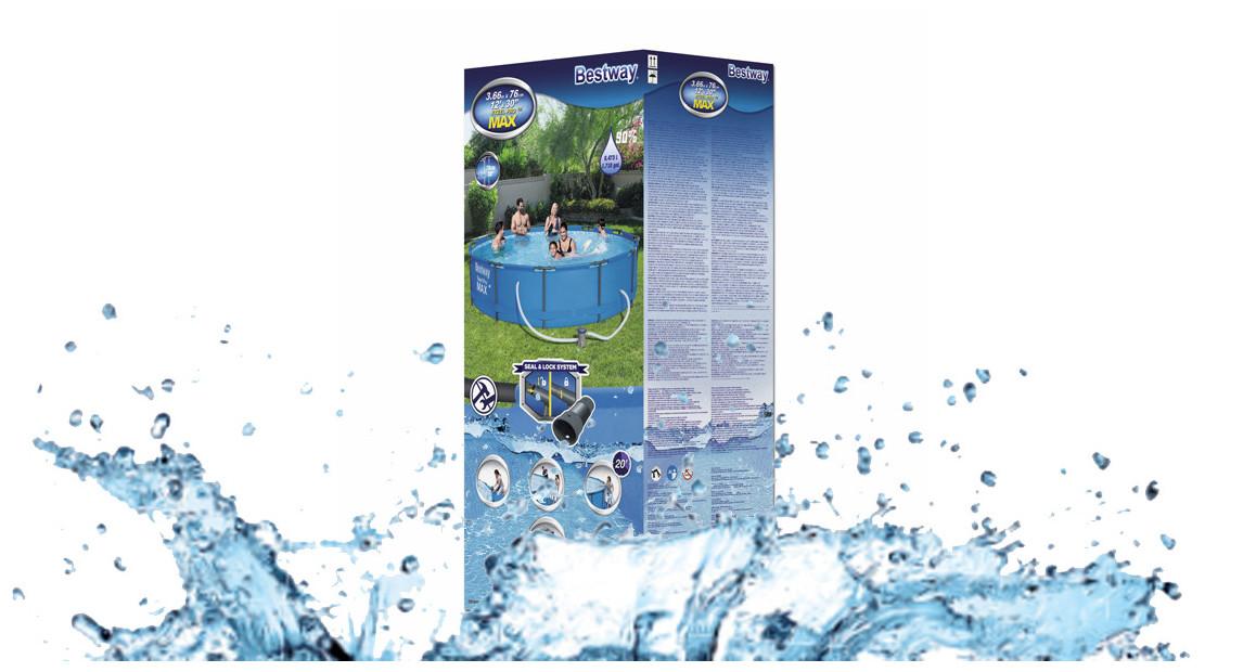 package de la piscine hors sol tubulaire bestway steel pro max