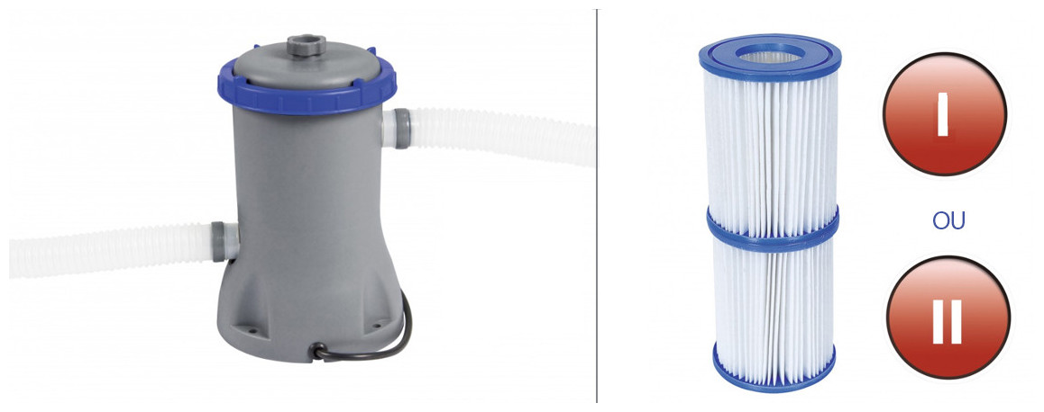 équipements de la piscine hors sol bestway steel pro max
