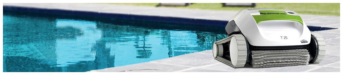 robot autonome de nettoyage de piscine dolphin t25 en situation