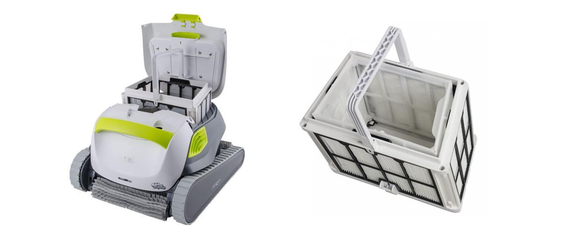 filtre multicouches du robot de piscine dolphin t35