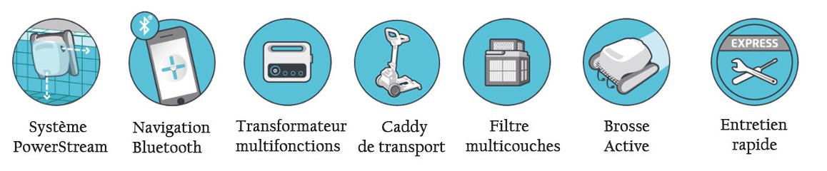 pictogramme du robot piscine dolphin T45