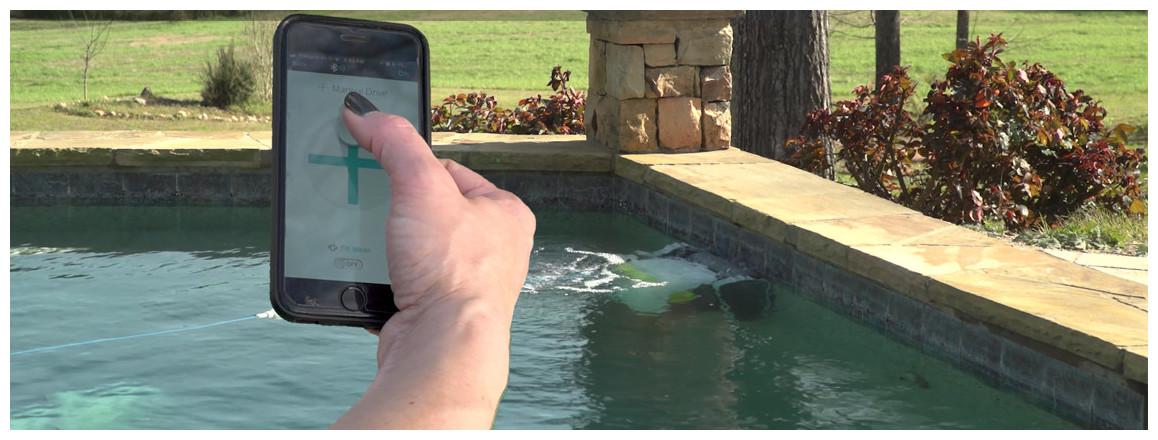 application du robot de piscine dolphin t45
