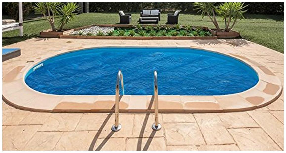 bâche été à bulles pour piscine en acier enterrée gre