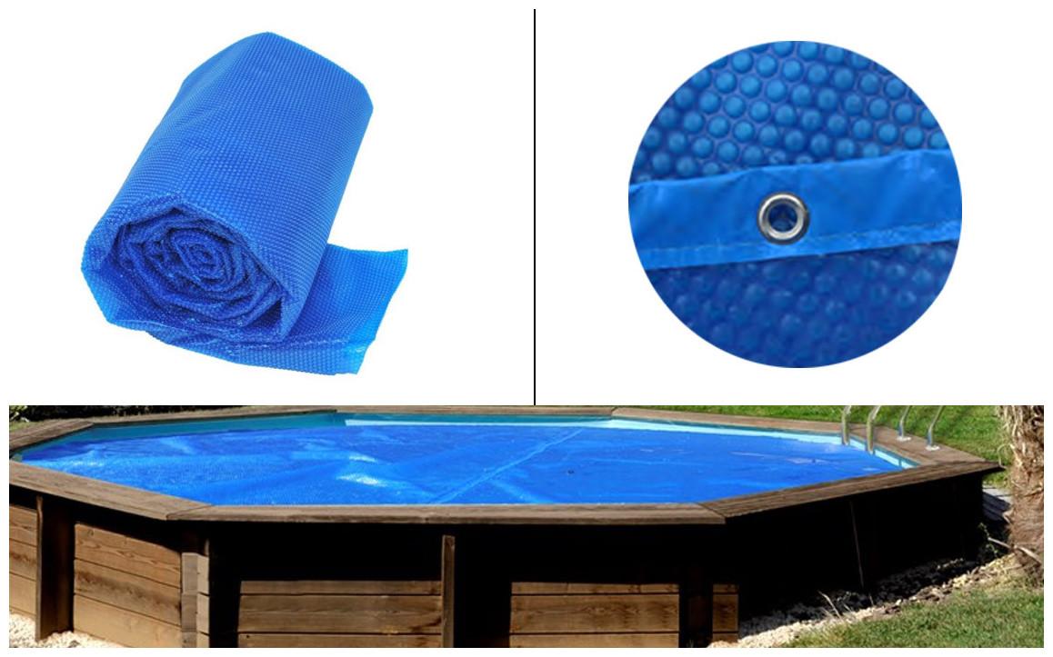 caractéristiques de la bâche été à bulles gre pour piscines bois