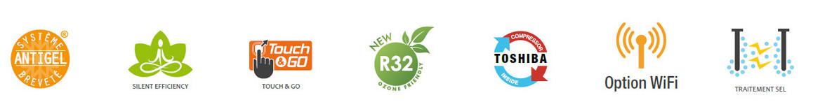 logo de la pompe à chaleur silverline r32