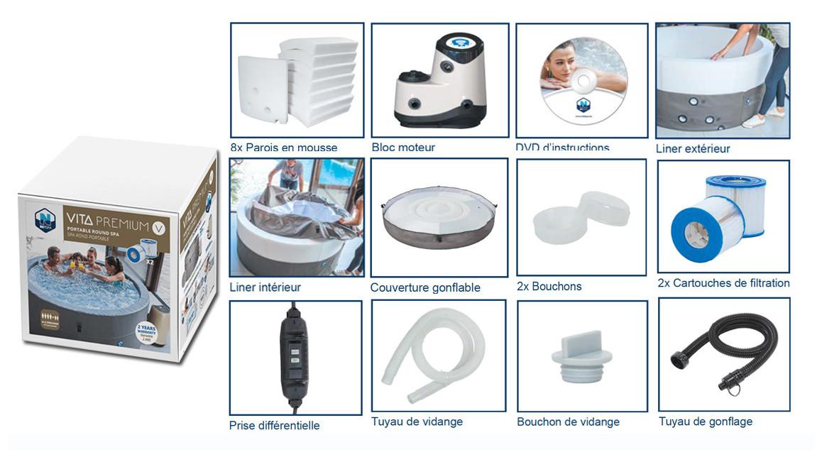 accessoires du spa portable vita premium netspa