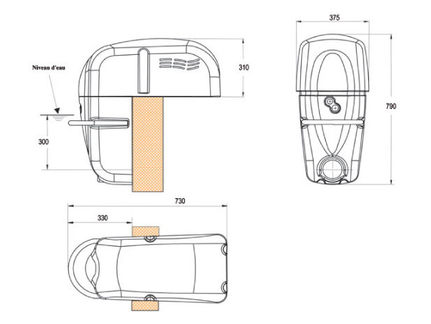 jetluxe NCC hors-bord dimensions