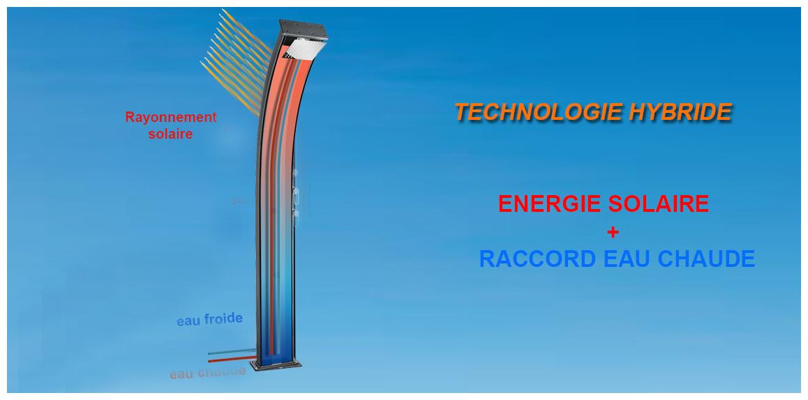 technologie hybride de la douche solaire dada curve