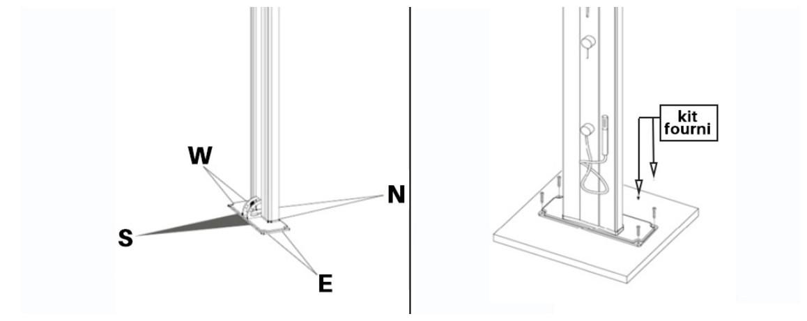 installation de la douche solaire dada curve en situation