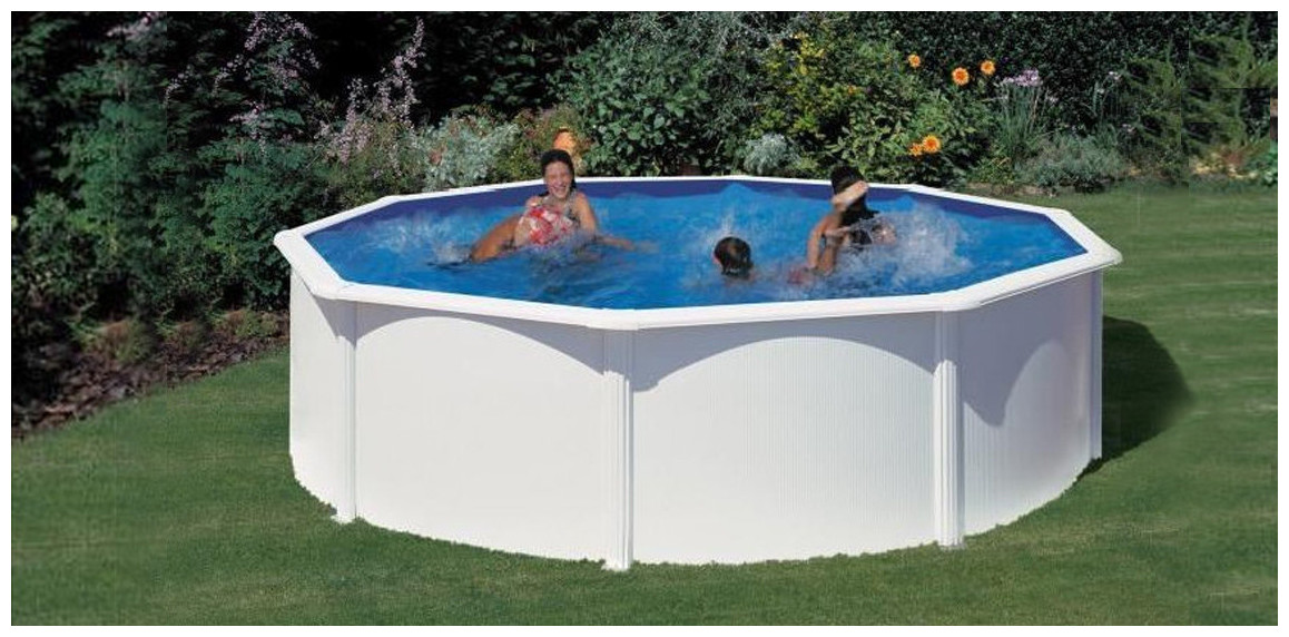 piscine hors sol acier gré blanc wet