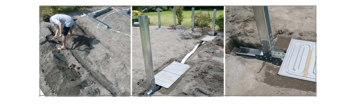 poteaux en acier à enterrer pour piscine hors sol gré wet acier laqué balnc