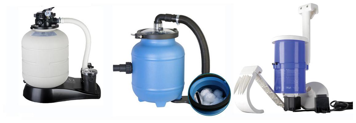 filtration de la piscine hors sol acier gré wet blanc