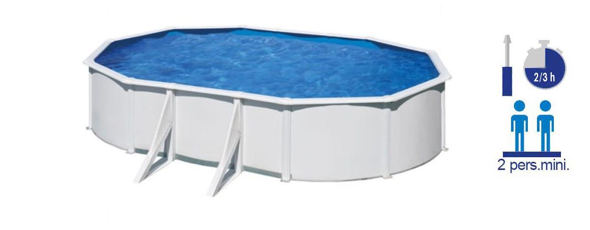 caractéristiques de la piscine hors sol acier gré wet ovales
