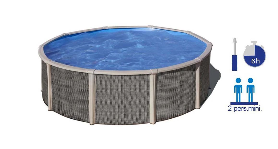 piscine hors sol en acier ronde gré fusion